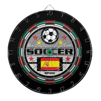 Live Love Soccer Spain Dartboard With Darts
