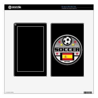 Live Love Soccer Spain Skins For Kindle Fire