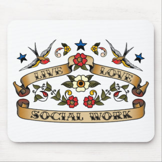 Live Love Social Work Mouse Pad