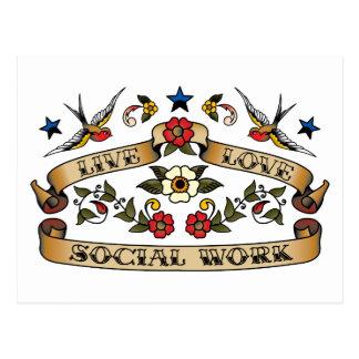 Live Love Social Work Postcard