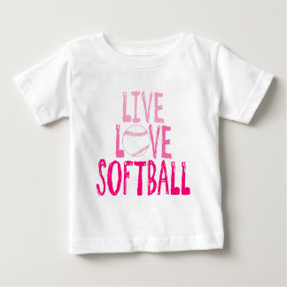 Live, Love, Softball Baby T-Shirt