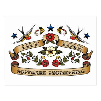 Live Love Software Engineering Postcard
