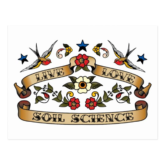 Live Love Soil Science Postcard