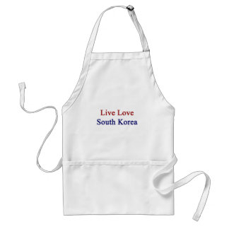 Live Love South Korea Adult Apron