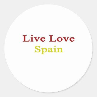 Live Love Spain Round Sticker