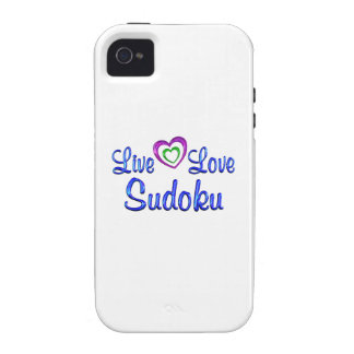 Live Love Sudoku iPhone 4 Case
