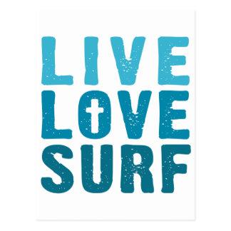 live-love-surf postcard