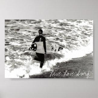 Live. Love. Surf. Poster