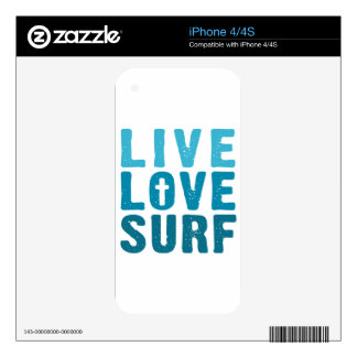 live-love-surf skins for the iPhone 4