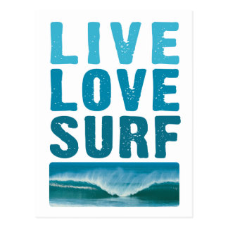 live_love_surf tarjetas postales
