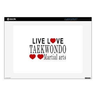 "LIVE LOVE TAEKWONDO MARTIAL ARTS 15"" LAPTOP DECAL"