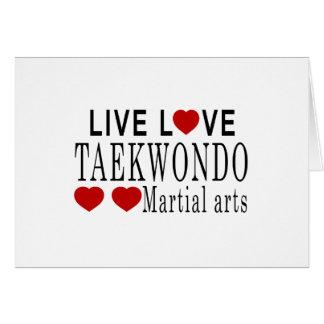 LIVE LOVE TAEKWONDO MARTIAL ARTS CARD