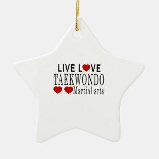 LIVE LOVE TAEKWONDO MARTIAL ARTS CERAMIC ORNAMENT