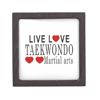 LIVE LOVE TAEKWONDO MARTIAL ARTS GIFT BOX