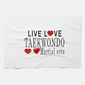 LIVE LOVE TAEKWONDO MARTIAL ARTS HAND TOWEL