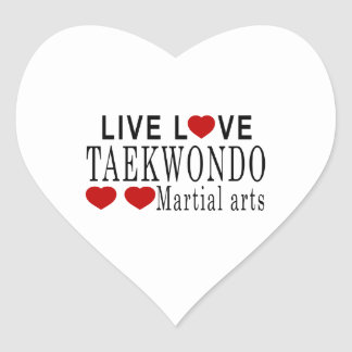 LIVE LOVE TAEKWONDO MARTIAL ARTS HEART STICKER