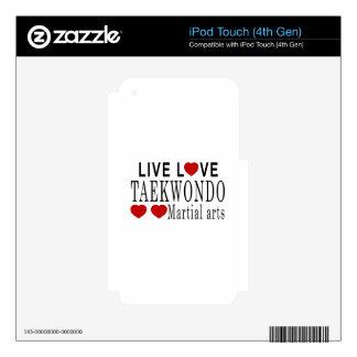 LIVE LOVE TAEKWONDO MARTIAL ARTS iPod TOUCH 4G DECAL