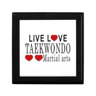 LIVE LOVE TAEKWONDO MARTIAL ARTS JEWELRY BOX