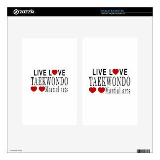 LIVE LOVE TAEKWONDO MARTIAL ARTS KINDLE FIRE DECALS
