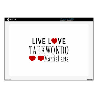 LIVE LOVE TAEKWONDO MARTIAL ARTS LAPTOP SKIN