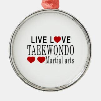 LIVE LOVE TAEKWONDO MARTIAL ARTS METAL ORNAMENT
