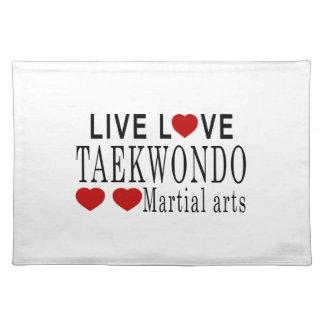 LIVE LOVE TAEKWONDO MARTIAL ARTS PLACEMAT