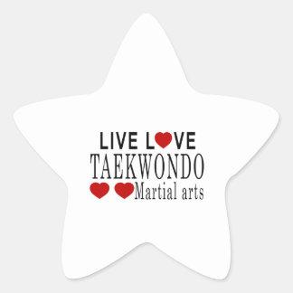 LIVE LOVE TAEKWONDO MARTIAL ARTS STAR STICKER