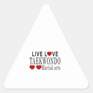 LIVE LOVE TAEKWONDO MARTIAL ARTS TRIANGLE STICKER