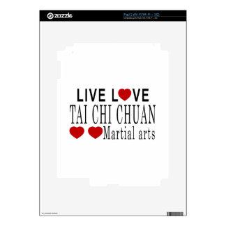 LIVE LOVE TAI CHI CHUAN MARTIAL ARTS SKIN FOR THE iPad 2