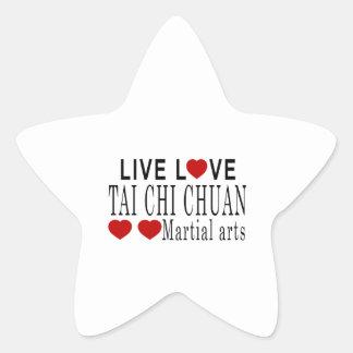 LIVE LOVE TAI CHI CHUAN MARTIAL ARTS STAR STICKER