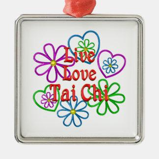 Live Love Tai Chi Metal Ornament