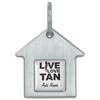 Live Love Tan Pet Tag