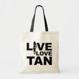 Live Love Tan Tote Bag