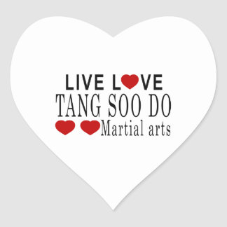 LIVE LOVE TANG SOO DO MARTIAL ARTS HEART STICKER
