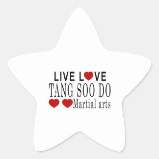 LIVE LOVE TANG SOO DO MARTIAL ARTS STAR STICKER