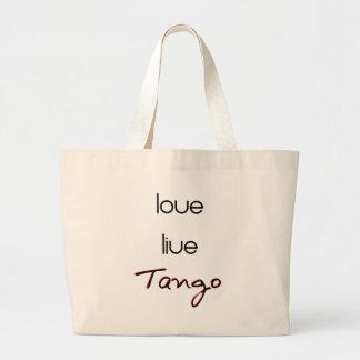 Live Love Tango! Canvas Bags