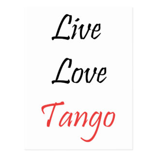Live Love Tango exclusive design! Postcard