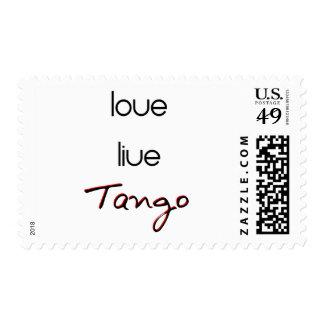 Live Love Tango! Postage
