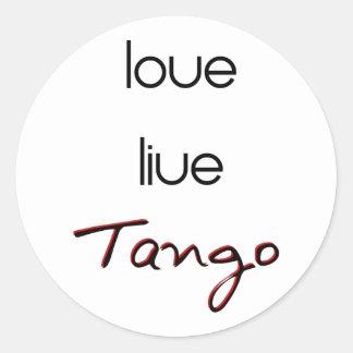 Live Love Tango! Sticker