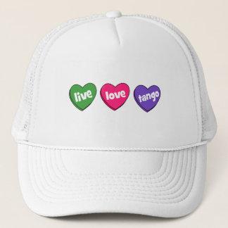 live love tango trucker hat