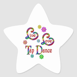 Live Love Tap Dance Star Sticker