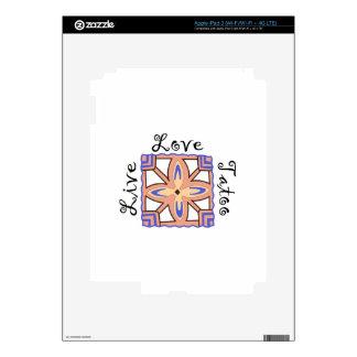 LIVE LOVE TATOO SKIN FOR iPad 3