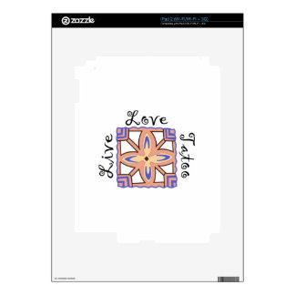 LIVE LOVE TATOO DECAL FOR iPad 2