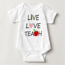 live love teach2 baby bodysuit