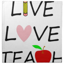 live love teach2 cloth napkin