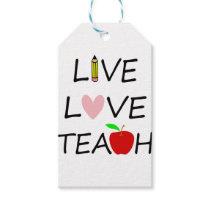 live love teach2 gift tags