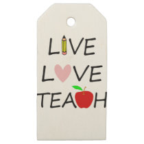 live love teach2 wooden gift tags