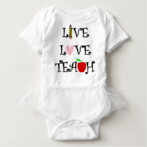 live love teach3 baby bodysuit