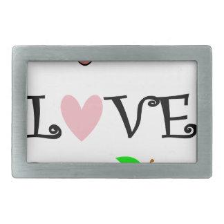 live love teach3 belt buckle