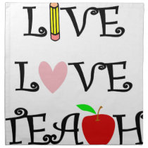 live love teach3 cloth napkin